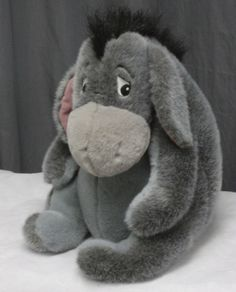 "Large Eeyore Plush 15"" Disney Winnie The Pooh Stuffed Animal Soft Classic Donkey #Disney"