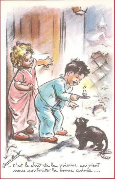 """Germaine Bouret """"C'est le chat de la voisine qui vient nous souhaiter la bonne année ! """""""