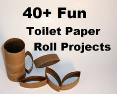 40   Fun Toilet Paper  Roll  – Craft Projects – Collection