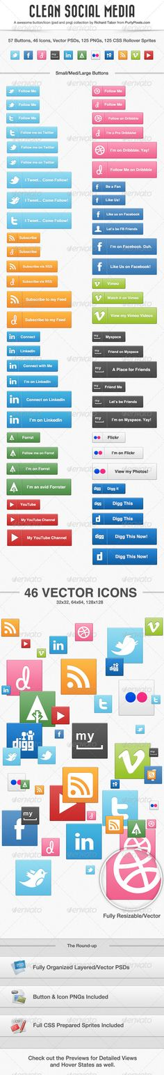 Clean Social Collection - GraphicRiver Item for Sale