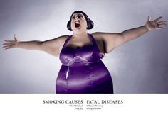 Creative Director Paul Arden, following the example of Benson & Hedges Design Campaign, Saatchi & Saatchi, Cut Fat, Photoshop, Retro Advertising, Fat Women, Print Ads, 2000s, Bodycon Dress