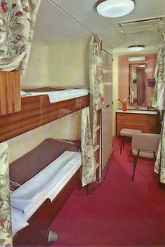 tourist class lounge | typical tourist class cabin - relatively luxurious for a migrant ...