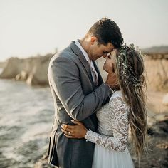 My end and my beginning ✨ Love her look here! Beautiful moment and couple captured by @annaricheyphoto ✨ Tag someone you know who would love this! More dresses on our site, link in bio. . .