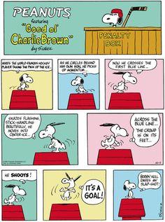 Peanuts by Charles Schulz Sunday, October Bobby Hull envies Snoopy's slap shot. Peanuts Cartoon, Peanuts Snoopy, Peanuts Comics, Hockey Pictures, Snoopy Pictures, Snoopy Love, Snoopy And Woodstock, Pulp Fiction Comics, Snoopy Comics