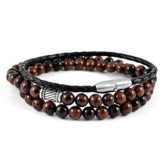 Buy Neshraw - Dhanbad Bracelet for only Shop at Trendhim and get returns. We take pride in providing an excellent experience. Diamond Bracelets, Bracelets For Men, Beaded Bracelets, Handmade Bracelets, Bracelet Cuir, Bracelet Set, Steel Gifts, Paracord Bracelets, Agate Beads