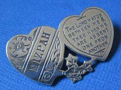 Victorian Antique Sterling Silver MIZPAH Brooch