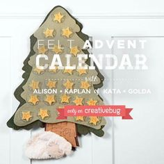 Materials Kit for Creativebug project- Felt Advent Calendar
