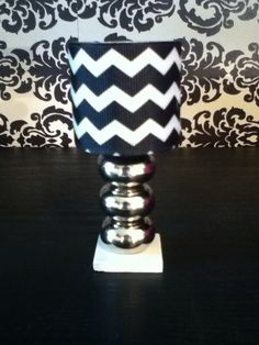 Chevron doll lamp black/white Monster High by ItsPerfectlyPetite, $8.00