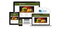 Un design de site génial pour tout restaurant rapide où il fait bon manger sur le pouce!