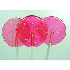 Pink Cotton Candy - Nostalgia Lollipop - girlie girl, wedding candy,... ❤ liked on Polyvore