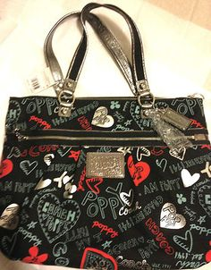 NEW Coach Limited Edition Graffiti Glam Large Tote RETAIL $298 OUR PRICE $199!!