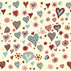 Valentines Day Hearts Textures #iPad #Air #Wallpaper