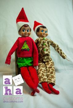 Jingle Shirt, Pants and Bubble Skirt for Elf on the Shelf Sewing Pattern | Sewing Pattern | YouCanMakeThis.com