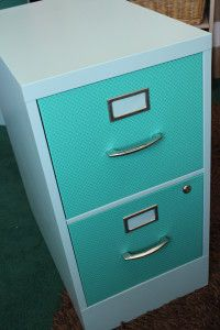 File cabinet re-do! Great to do with thrift store file cabinets!