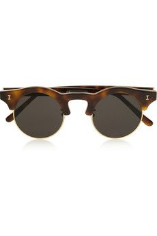 70288232c8 Illesteva - Corsica round-frame acetate and metal sunglasses