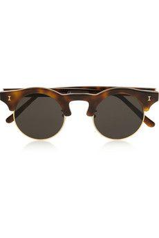 70288232c8 Illesteva - Corsica round-frame acetate and metal sunglasses