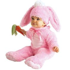 Precious Pink Rabbit Costume This bunny wabbit will look very cute at your Easter celebration! Costume includes: Pink bunny jumpsuit, headpiece with ears and carrot rattle. Sizes available: Newborn Months Infant Months. Baby Girl Halloween Costumes, Toddler Costumes, Girl Costumes, Infant Halloween, Easter Costumes, Pink Costume, Costume Ideas, Holiday Costumes, Adult Costumes