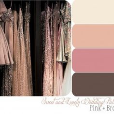 Possible Wedding Color Scheme- Brittany, maybe have the guys wear brown?? Goes great with your blush, peach, champagne.