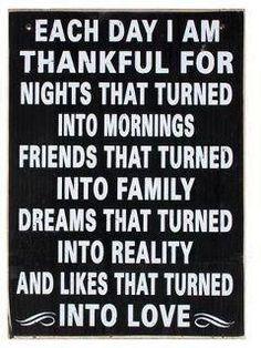 A thankful heart is a happy heart.