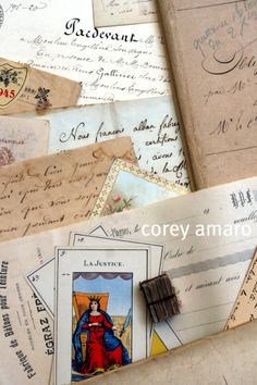 Antique French paper products.
