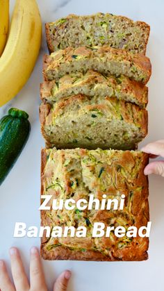 Irish Desserts, Irish Recipes, Zucchini Bread Recipes, Banana Bread Recipes, Healthy Zucchini Recipes, Recipe Zucchini, Quick Bread Recipes, Zucchini Banana Bread, Low Sugar Banana Bread