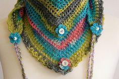 fresh multicoloured Road Trip scarf crochet by CrochetRagRug