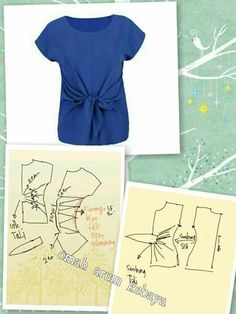 Pattern Sewing Bow Pattern Easy Sewing Patterns Pants Pattern Pattern Drafting Pattern Cutting Blouse And Skirt Blouse Dress Blouse Patterns Blouse Patterns, Clothing Patterns, Fashion Sewing, Diy Fashion, Sewing Blouses, Modelista, Make Your Own Clothes, Easy Sewing Patterns, Pattern Drafting