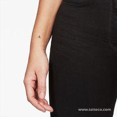 Serif Capital A Letter Temporary Tattoo (Set of – Tatteco Dragon Tattoo Arm, Arm Tattoo, Subtle Tattoos, Small Tattoos, Letter B Tattoo, Initial Wrist Tattoos, Tiny Tattoos With Meaning, Coordinates Tattoo, Tattoo Set