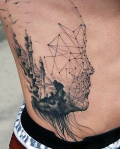 Mens Abstract Tattoo Ideas On Ribcage