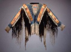Lakota quilled war shirt
