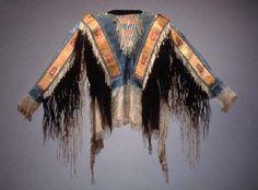 Lakota quilled war shirt