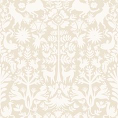 "Otomi (Cream) Removable Wallpaper Tile from Hygge & West, $28 per 24"" x 24"" tile -- excellent for low-commitment apartment decor!"