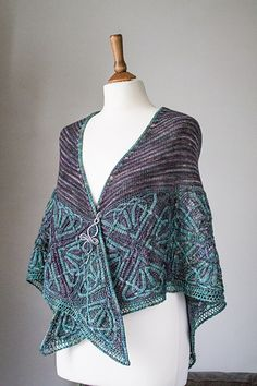 This is the third design in Illuminated Knits, a series of patterns inspired by illuminated Celtic manuscripts, using beautiful shades of Malabrigo yarn.