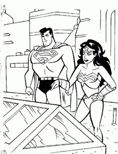 Superman and Wonder Woman Coloring Pages : New Coloring Pages