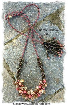 *Beaded Kumihimo Bauble & Leaf Necklace Kit