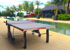 Our beautiful #Cornilleau Outdoor #pingpong table, comes with a 10 Years guarantee on the playing surface. by #thailandpooltables
