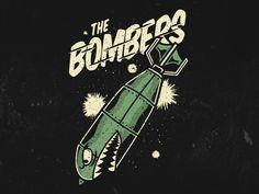 The Bombers by Vinicius Gut Dessin Old School, Shark Logo, Cartoon Art, Goat Cartoon, Cartoon Girls, Tatuagem Old School, Garage Art, Arte Horror, Pinstriping
