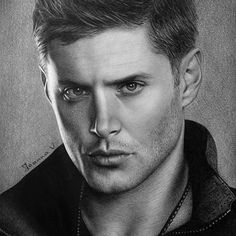 Supernatural Drawings, Supernatural Fan Art, Global Art, Portrait, Instagram Posts, Supernatural, Portrait Illustration, Portraits, Head Shots