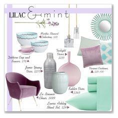 """""""Lilac and Mint home decor!"""" by lilymillyrose ❤ liked on Polyvore featuring interior, interiors, interior design, home, home decor, interior decorating, Laura Ashley, Florence Broadhurst, Ebb & Flow and Joe Cariati"""