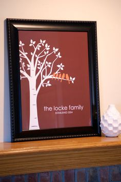 Anniversary Gift, Mother's Day Gift - family tree poster