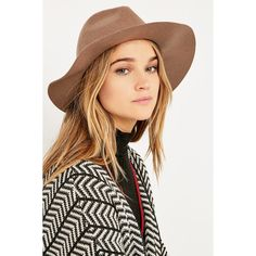 Piper Western Felt Hat (215 DKK) ❤ liked on Polyvore featuring accessories, hats, brown, brown felt hat, cowboy hat, brown cowgirl hat, felt hat und cowgirl hat