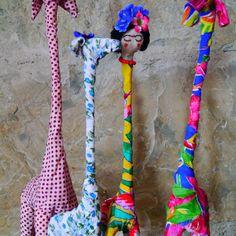 """They all sisters! #giraffe #madeinhome by #orsayors #craft #turkishdesigners #creative #handmade"""