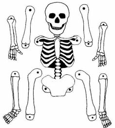 Pantin squelette A skeleton puppet to print and make for Halloween. Deco Haloween, Theme Halloween, Halloween Crafts For Kids, Halloween 2017, Holidays Halloween, Happy Halloween, Halloween Decorations, Bricolage Halloween, Manualidades Halloween