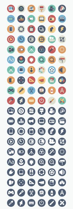 Elegantthemes Our Flat Icon Set Gets A Media Makeover Web Design Icon, Graphic Design Tools, Elements Of Design, Tool Design, Graphic Design Inspiration, Professional Web Design, Custom Icons, Image Icon, Media Icon