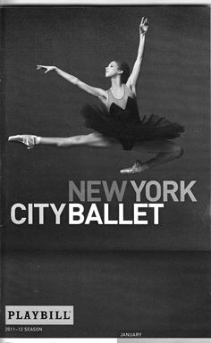 New York City Ballet's program cover, 2011-2012.