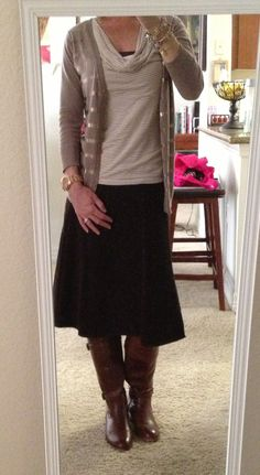 Work outfit with boots