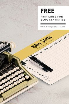 Free Printable for Blog Statistics, Blog Stats Tracker, Freebies for Bloggers, blogging tips