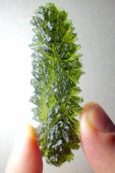Rare Moldavite from Bohemia, Czech Republic