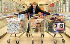 Teenager buys $980 worth of groceries for $0.07 with coupons and donates all of the food to a local charity.