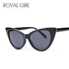 49828428d6 Cheap ROYAL Fashion GIRL Caliente Del Ojo de Gato Mujeres Gafas de Sol  Retro Inspirado Gafas